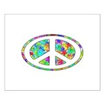 Peace Groovy Floral Small Poster