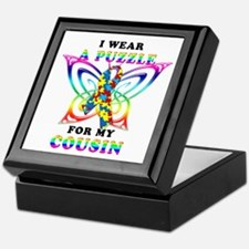 I Wear A Puzzle for my Cousin Keepsake Box