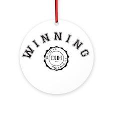 Winning DUH Ornament (Round)