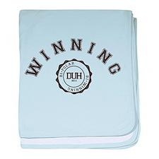 Winning DUH baby blanket