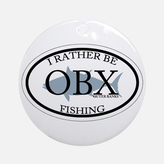 I rather be fishing. Ornament (Round)