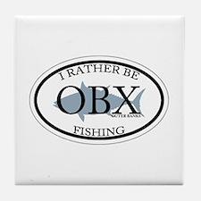 I rather be fishing. Tile Coaster