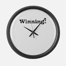 Vintage Winning! Large Wall Clock