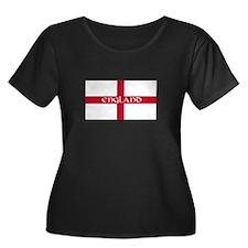 St. George's Cross Women's Plus Size Scoop (Dark)