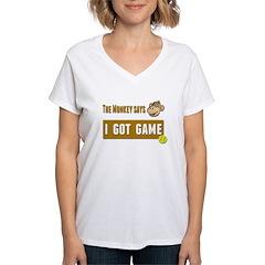 Monkey Says tennis Shirt