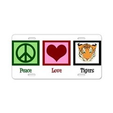 Peace Love Tigers Aluminum License Plate