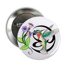 "Hummingbird Tribal 2.25"" Button (10 pack)"
