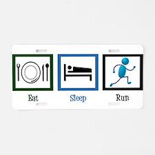 Eat Sleep Run Aluminum License Plate