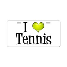 I Heart Tennis Aluminum License Plate