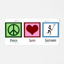 Peace Love Lacrosse Aluminum License Plate