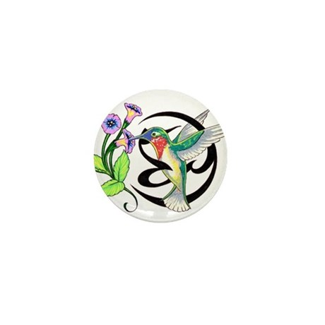 Hummingbird Tribal Mini Button