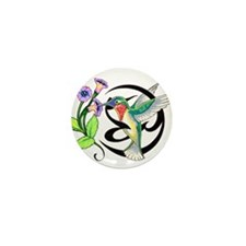 Hummingbird Tribal Mini Button (10 pack)