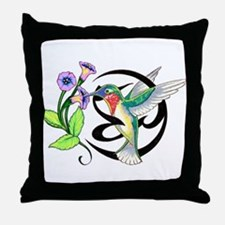 Hummingbird Tribal Throw Pillow