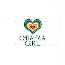 Obama Girl Aluminum License Plate