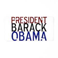 President Obama Aluminum License Plate