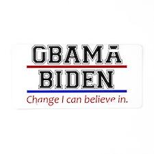 Obama Biden Change Aluminum License Plate