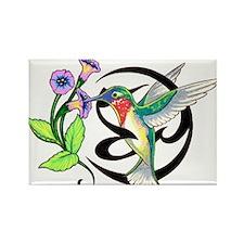 Hummingbird Tribal Rectangle Magnet (100 pack)