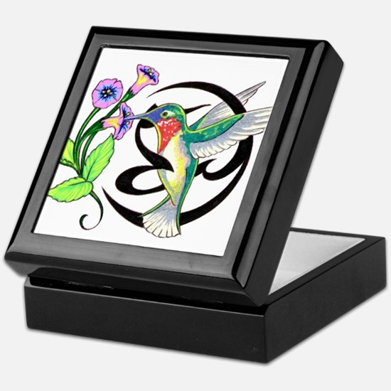 Hummingbird Tribal Keepsake Box