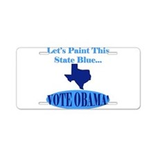 Democratic Texans Aluminum License Plate