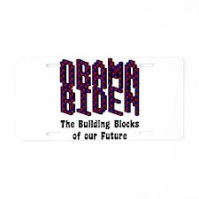 Obama Biden Future Aluminum License Plate