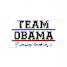 Team Obama Aluminum License Plate