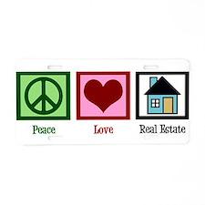 Peace Love Real Estate Aluminum License Plate