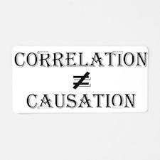 Correlation Causation Aluminum License Plate