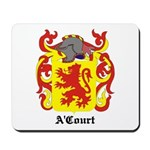 A'Court Coat of Arms Mousepad
