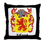 A'Court Coat of Arms Throw Pillow