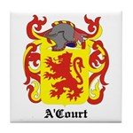 A'Court Coat of Arms Tile Coaster