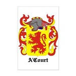A'Court Coat of Arms Mini Poster Print
