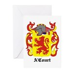 A'Court Coat of Arms Greeting Cards (Pk of 10)