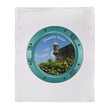 Puerto Rico Porthole Throw Blanket