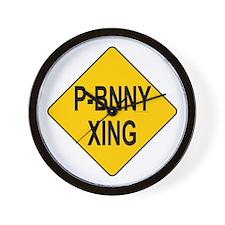 P-Bnny Xing Wall Clock