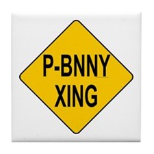 P-Bnny Xing Tile Coaster