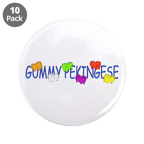 "Pekingese 3.5"" Button (10 pack)"