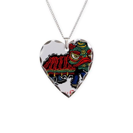 Gung Hey Fat Choy Necklace Heart Charm