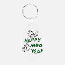 Happy Moo Year Keychains