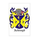 Ackroyd Coat of Arms Mini Poster Print