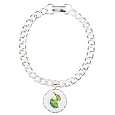 The Joy of Sledding Charm Bracelet, One Charm