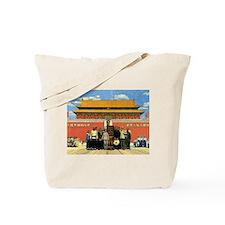 Tiki in Tiananmen Tote Bag