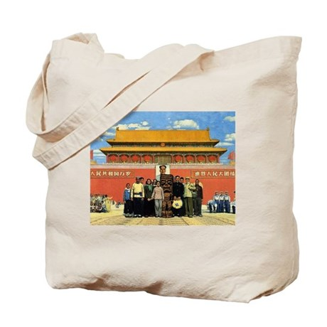Tiki in Tiananmen Tote Bag