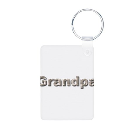 Silver Grandpa Aluminum Photo Keychain