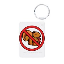 No Squirrels, Squirrels Scare Keychains