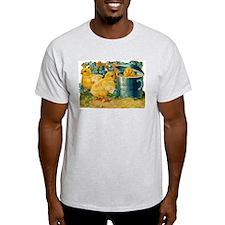 Vintage Easter Chicks Ash Grey T-Shirt