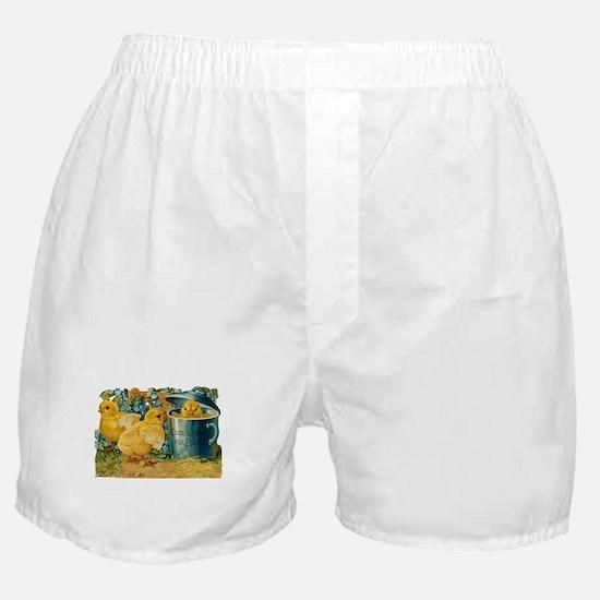 Vintage Easter Chicks Boxer Shorts