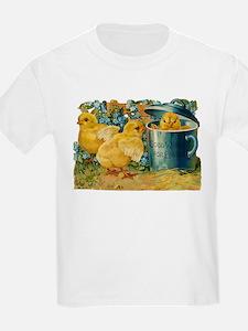 Vintage Easter Chicks Kids T-Shirt