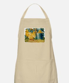 Vintage Easter Chicks BBQ Apron