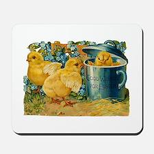 Vintage Easter Chicks Mousepad