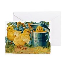 Vintage Easter Chicks Greeting Cards (Pk of 10